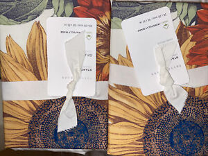 NEW Pottery Barn Set 2 Cara Organic Cotton Sunflower Sham Standard Floral