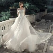 New Wedding dresses Long Sleeve Illusion Sweetheart Neck Bridal Gown Custom Made