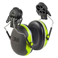 3M Peltor X4P3 Ear Defenders SNR=32dB Helmet Attachment Hi Vis Green Ear Muffs