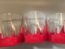 Makers Mark Red Wax Drip Bourbon Whiskey Cocktail Rocks Glasses