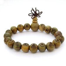 Sandalwood Buddha Word Bodhisattva Tibet Buddhist Prayer Beads Mala Bracelet