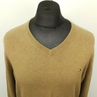 Tommy Hilfiger Mens   Pullover XL  Cotton Cashmere Sweater Jumper Knit V-Neck