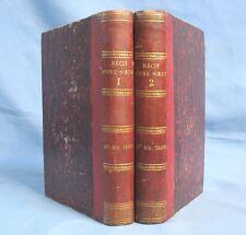 Récit d'une Sœur recueilli par Mme Augustus Craven / Édit. Didier 1869 / 2 Tomes