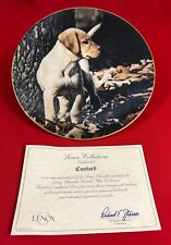 3 Larry Chandler Puppy Collector Plates (Custard, Smoky, Dutch), Lenox