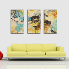 Framed Canvas Prints Stretched Watercolor Tree Wall Art Home Decor Painting