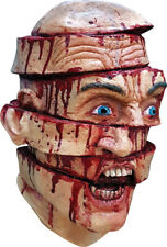 Halloween BLOODY SLICED Adult Latex Deluxe Mask Ghoulish Productions