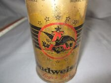 RARE BUDWEISER OPEN STAR FLAT TOP LAGER BEER CAN 1936