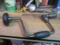 "STANLEY No 965 - 10 in brace bit auger 10"" SWEEP RATCHETING WOOD HAND DRILL USA"