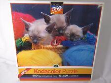 Kodacolor Rosa Arte 550 Pezzi Puzzle Cesto di Gattini Gatti Sigillato 1989 33333
