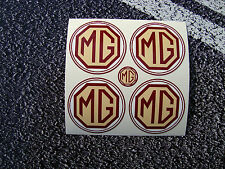 MG Style Wheel Centres Vinyl Stickers 50mm Rover MGZ motorsport BGT British Icon