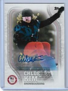 RARE 2018 TOPPS OLYMPICS CHLOE KIM AUTOGRAPH CARD USA-33 ~ /30  USA SNOWBOARDING