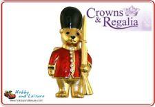 Royal Teddies Guardsman Teddy Brooch GoldPlated Enamelled Crowns & Regalia 28257
