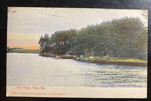 1905 York ME Usa Picture Postcard Cover To New York the Pines View