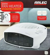 2000W Low Profile Electric Fan Heater with 2 Heat Settings & Thermostat