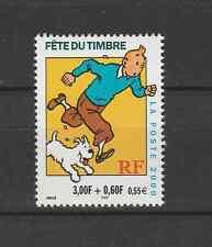 Fête du timbre Tintin YT330a neuf provenant de carnet dentelé 13 1/2 * 13