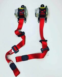 MAZDA MAZDASPEED 3 MPS   FRONT SEAT BELTS SET - RED