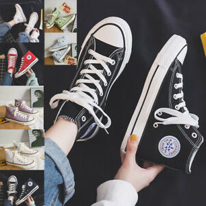 Classic Shoes Men Women Canvas High Top Sneakers Canvas Trainers Ox Unisex UK