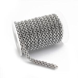 1 Meter Stainless Steel Popcorn Chains DIY Hiphop/Rock Men Links Necklace Making