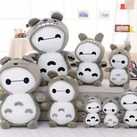 New Totoro Coat Baymax Soft Stuffed Plush Doll Action Toys Kids Birthday Gift
