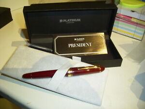***START USD 99!***  PLATINUM President pen, wine red > LAST PEN!