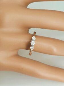 18ct White Gold 3 stone Trilogy Ring Diamond .25 carat - 1/4. Size L. NICE1