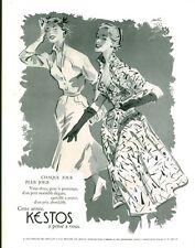 Publicité Ancienne  Mode KESTOS 1953  Paulin