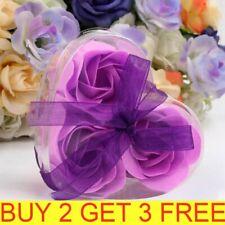 3PCS Heart Scented Bath Body Petal Rose Flower Soap Wedding Party Decor Gifts QU