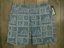 Reyn Spooner Newport Casual Beach Shorts Mens Size XL Blue Hawaiian NWT $96.00