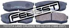 Pad Kit, Disc Brake, Rear For Toyota Land Cruiser 100 Hzj105 (1998-2007)