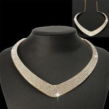 New Fashion Jewelry Chain Pendant Crystal Choker Chunky Statement Bib Necklaces