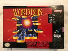Wordtris (SNES, 1992) Includes Original Box and Instruction Booklet