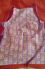 Colorful BUNNIES Oven Mitts & Apron, Handmade, Quilted, Lined,100% Cotton