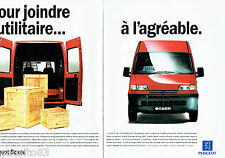 PUBLICITE ADVERTISING 056  1994   l'utilitaire Peugeot Boxer ( 2p)