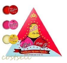 """LIOELE Petit Bonbon Lip Balm Triple Set (12gx3ea) """"US Seller"""""""