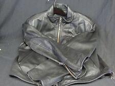 Harley Davidson Motorcycle Leather Jacket Black Large Nice Patches