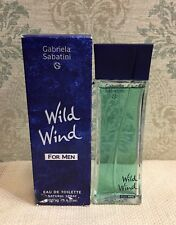 Wild Wind By Gabriela Sabatini~Muelhens 3.4oz/100ml EDT Spray Men, As Is