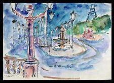 Fritz Bien 1909 Tsingtau (China) - 2001 Gevelsberg / Strasse in Paris / 1985