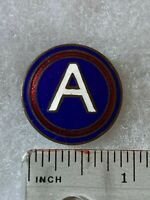 Authentic WWII US Army 3rd Army Headquarters DI DUI Unit Insignia NH