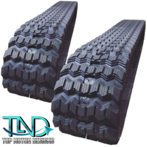 "2 Rubber Tracks Fits CAT 279C 289C 299C 299D 299D2 XHP 450X86X60 Zig Zag 18"""