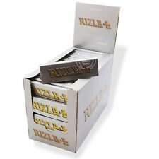 NEW RIZLA SILVER 100 BOOKLETS BOX REGULAR /STANDARD CIGARETTE ROLLING PAPERS