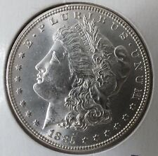 1885-P MORGAN SILVER DOLLAR - $1 Coin - Hot 50 VAM-1A1 Pitted Reverse