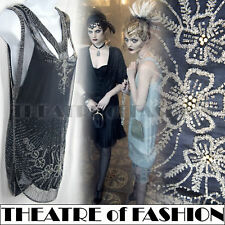 VINTAGE TOPSHOP 20s DRESS BEAD FLAPPER TOP 30s GATSBY ART DECO JAZZ WEDDING