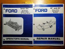 Ford 914 9607334 9607335 60 Mower 1988 For 1320 1520 Tractor Op Manual Repair