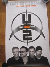 U2 360 Tour Poster Giants Stadium East Rutherford Nj 2009 Bono Edge Clayton