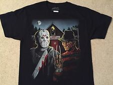 FRIDAY The 13th JASON Voorhees FREDDY Krueger ELM STREET movie MEN'S New T-Shirt