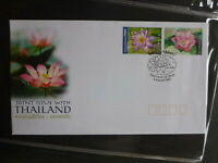 2002 AUSTRALIA-THAILAND JOINT ISSUE WATERLILLY 2 STAMP FDC FIRST DAY COVER