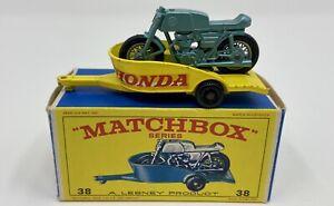 Matchbox No. 38 Honda Motorcycle & Trailer in Original 'E4' Box