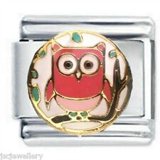 COLOURFUL OWL   - DAISY CHARM Italian Charms for Classic Size Bracelet Band