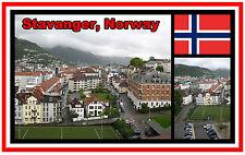 STAVANGER, NORWAY - SOUVENIR JUMBO FRIDGE MAGNET -  BRAND NEW - GIFT