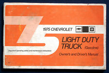 Owner's Manual * Betriebsanleitung 1975 Chevrolet Chevy Light Duty Truck (USA)
